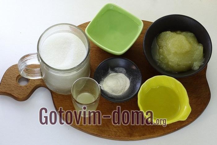 Продукты для ванильного зефира.