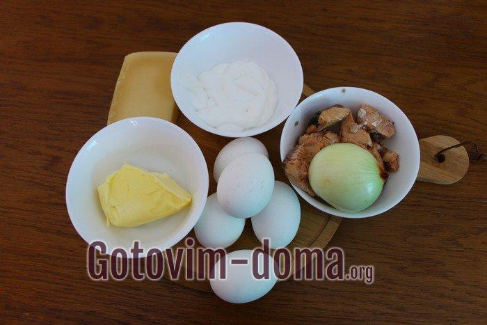 Ингредиенты для салата праздничного Мимоза