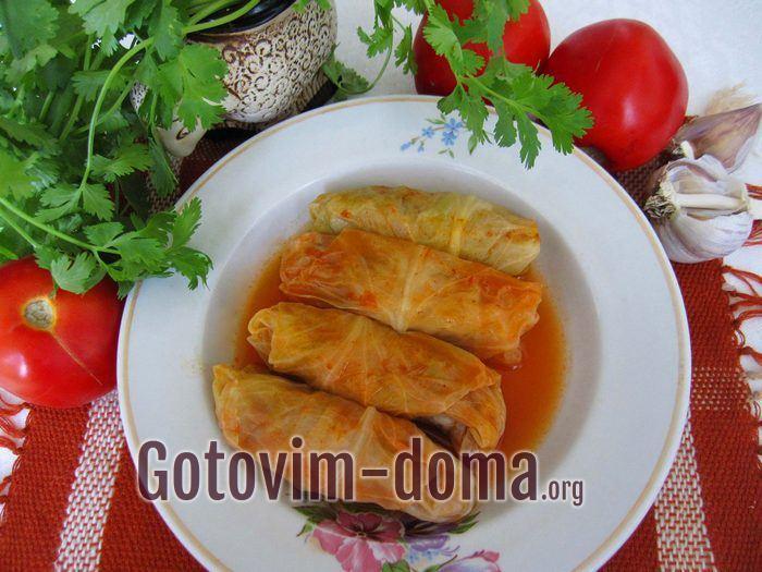 Голубцы в томатном соусе, рецепт с фото.