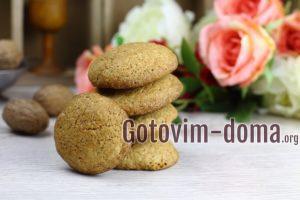 Овсяное печенье с грецкими орехами.