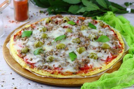 Пицца из цветной капусты.