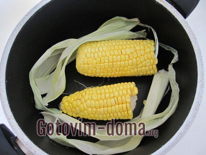 Початок кукурузы для винегрета.