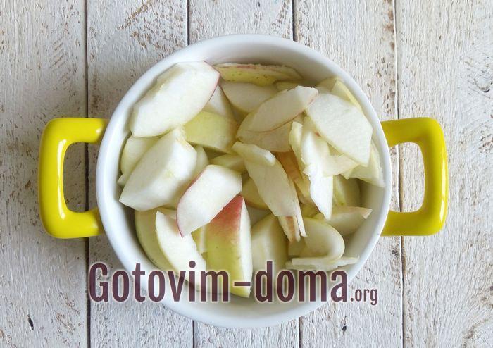 Яблочное варенье подготовка.