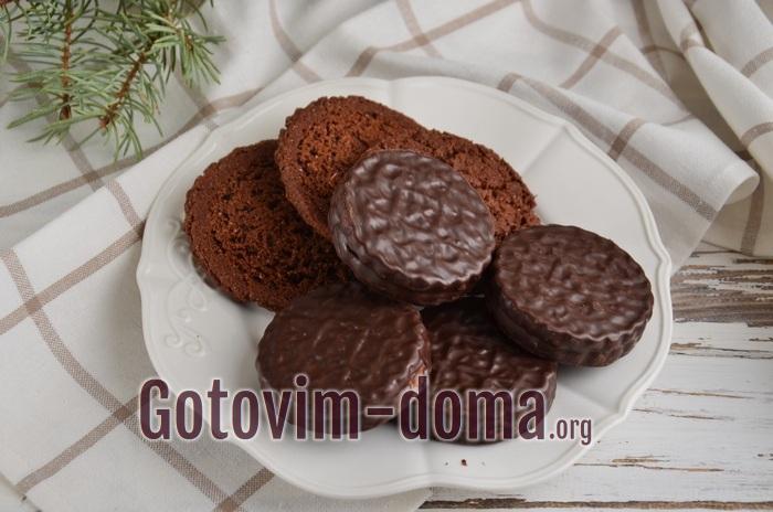 Шоколадное печенье для десерта