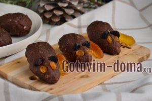 Мышки из шоколадного печенья без выпечки.