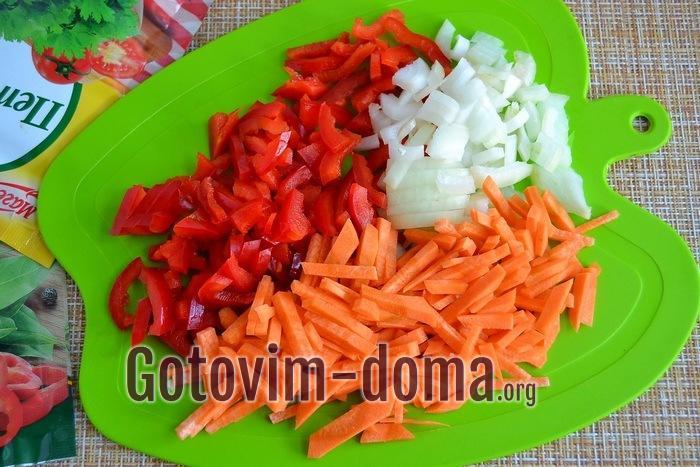 Овощи для запеканки.