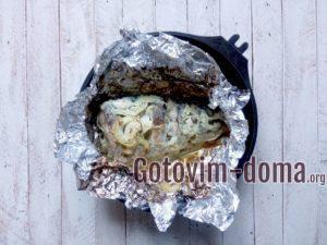 Карп запеченный в духовке в фольге.
