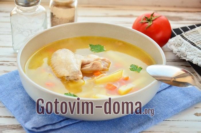 Суп из крылышек куриных с лапшой.