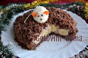 Шоколадный торт на Новый год 2020 Норка мышки