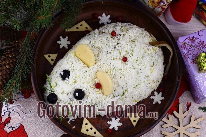 Очень вкусный и сытный салат «Крыса».