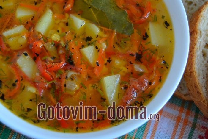 Как приготовить чечевичный суп с булгуром.