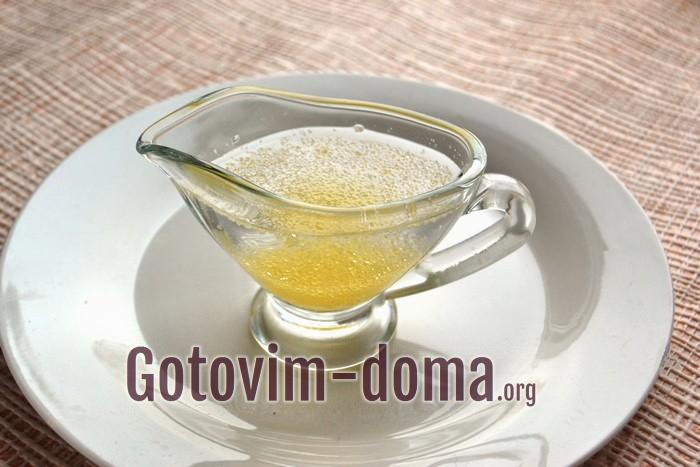Желатин с холодной водой для крема.