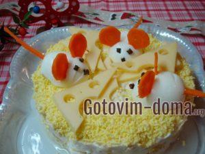 Крутые мышки и салат Апельсинка