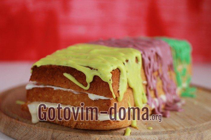 Радужный торт готов!