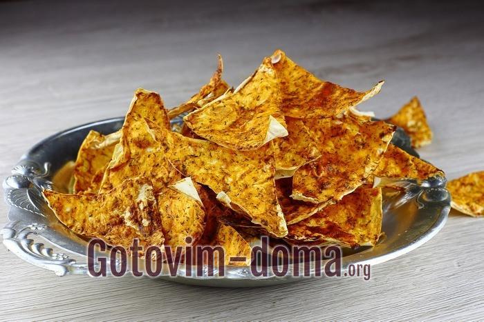 домашние чипсы из лаваша.
