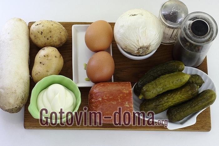 Продукты для салата на 8 марта Букет