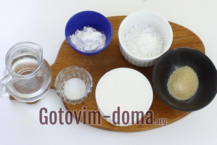 Ингредиенты для зефира маршмелоу